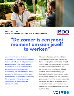 VDS - Referentie - BDO Summerschool